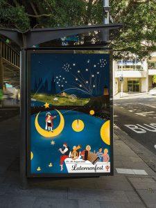 City-Light-Poster, Plakat zum Laternenfest in Halle 2019. Illustration / Grafikdesign / Digital Art, Werbung von High Tension Design aus Halle (Saale). Graf