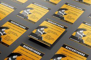Flyer mit Illustration. Grafikdesign / Digital Art, Werbung von High Tension Design aus Halle (Saale).