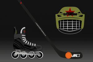 Illustrationen für die Website des 1.Inlinehockeyclub Halle. Digital Art, Webdesign von High Tension Design aus Halle (Saale).